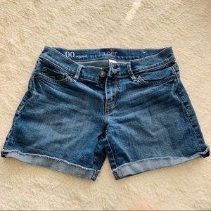 """Jean shorts size 00 5"""" inseam LOFT EUC cuffed hem"""